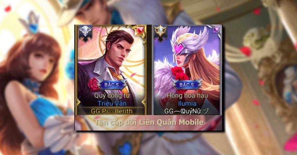 Tên cặp đôi Liên Quân Mobile