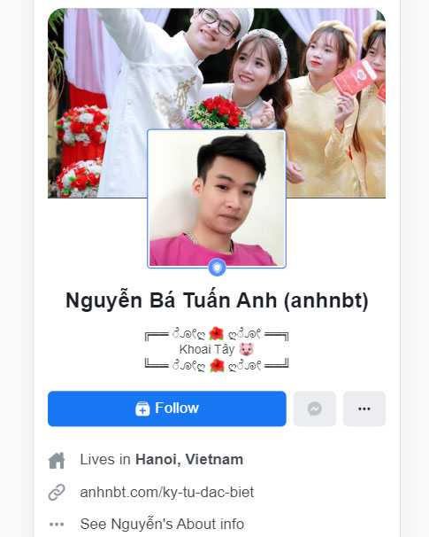 Facebook Nguyễn Bá Tuấn Anh
